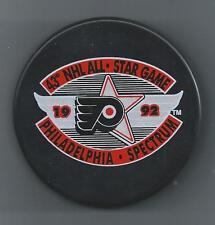 1992  43rd NHL All-Star Game  Philadelphia Spectrum  Souvenir Hockey Puck