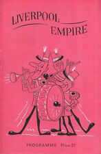"""""""First Appearances in England"""" JUDY GARLAND at the Liverpool Empire 1951 Program"""