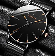2020 Men's Watch Ultra-Thin Stainless Steel Men Business Watch Men Mesh Belt