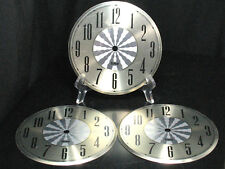 LOT of 3 Vintage Clock Faces Telep Mantle Grandfather Wall Antique Repair