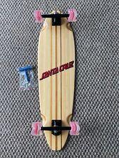 "Bamboo Longboard Pin Tail RKP Trucks  36""X 9.75""  Shark Wheels Santa Cruz Decal"