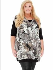 BNWT Gemma Collins Sophia 2 in 1 Evening Day Tunic Dress Top Size 18