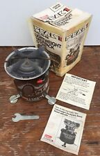 VINTAGE 8-1981 Coleman Peak 1 400 Backpack Camp Stove w Instructions, Wrench Box