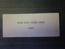 MINNKOTA  PARTS BOOK 1988 FACTORY  PARTS BOOK & WIRING DIAGRAMS & PARTS DIAGRAMS