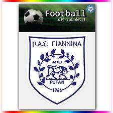 "PAS Giannina FC UEFA Die Cut Vinyl Sticker Car Bumper Window 4""x3.5"""