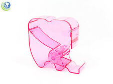 Dental Cotton Roll Dispenser Molar Shaped See-through Reddish Pink