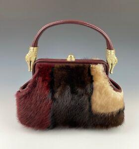 Barry Kieselstein-Cord Crocodile Handbag Fur 1991 Vintage NO RESERVE!!