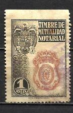 1434-SELLO FISCAL CORPORATIVO TIMBRE MUTUALIDAD NOTARIAL ANTIGUO 1 PESETA.VALOR