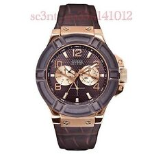 AUTHENTIC GUESS MEN'S RIGOR WATCH W0040G3 Brand New RRP: $349 Mini DENT*