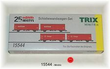 Trix Minitrix 15544 Goods Wagon Set DB AG 2-teilig # NEW ORIGINAL PACKAGING #