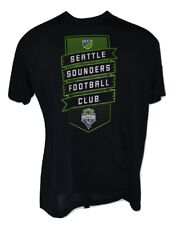 Seattle Sounders FC MLS Soccer Team Logo Performance Microfiber Black T-Shirt