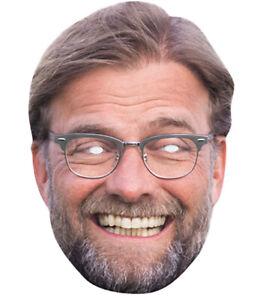 Jurgen Klopp Celebrity Single 2D Card Party Face Mask - Football Manager