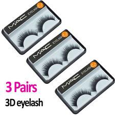 MAC 3 Pairs False Eyelashes 3D Natural Fake Eye Lashes Extension Handmade Makeup