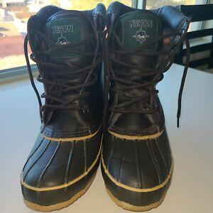 Men's Yukon Adventurer Boots Thermolite Insulated Waterproof Sz 11M Steel Shank