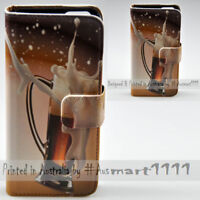 For Nokia Series - Spilled Beer Print Theme Wallet Mobile Phone Case Cover