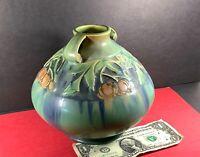 Roseville Pottery Green Baneda Vase AMERICAN ART 605-6 Art & Crafts DRIP GLAZE!!