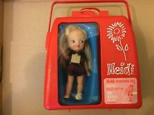 Vintage HEIDI Doll in Carry Case POCKETBOOK DOLL Magic Button works! 1960
