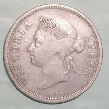 1900 H Straits Settlement 50 Cent scarce coin