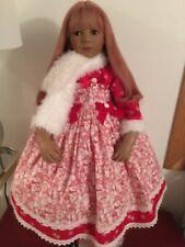 Himstedt Doll Winter Snowman Dress Boa Fits Tana Gitta Kida Kiomi New #353