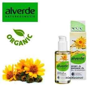 Body oil Sport and massage oil Arnica flowers Alverde VEGAN 100 ml