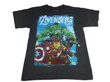 Marvel Avengers Pastel Hulk Captain America Thor Iron Man Boy's T Shirt
