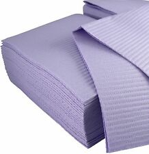 Dental Bibs 13X18 2 ply tissue 1 ply poly towels 50 pcs Lavender Tattoo