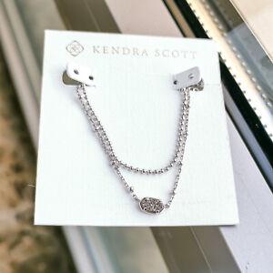 Kendra Scott | Emilie | Platinum Drusy Silver Multi Strand Necklace