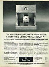 A- Publicité Advertising 1962 La Montre Omega 30 mm