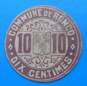WW1 59 Nord Roncq 10 centimes Pirot 59-3155 R2