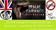 Primal Carnage: la extinción Vapor clave no VPN región libre de Reino Unido Vendedor