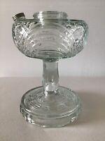 Vintage Original ALADDIN Clear Washington Drape Lamp Base #4