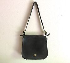 Vintage Bonnie Cashin Coach NYC Black Twist Lock Saddlebag Handbag Super Clean