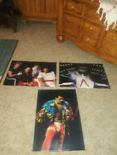Lot Of (3) 1985 Queen Freddie Mercury Posters 16 1/4 X 11 1/2 Printed in London