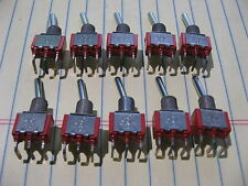 Lot of 10 Toggle Switches C&K 7101 SPDT 5A 120VAC PCB Side Mount NOS