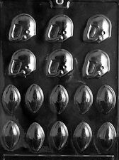 FOOTBALL HELMETS AND FOOTBALL BITES CHOCOLATE CANDY MOLD DIY GAME PARTY TREATS