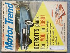 1959 SEPTEMBER MOTOR TREND MAGAZINE HOW FORD'S FALCON WAS STYLED DETROIT'S PLANS