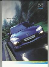 MAZDA RX- 8  (231ps) R3 SALES BROCHURE OCTOBER 2008 FOR 2009 MODEL YEAR