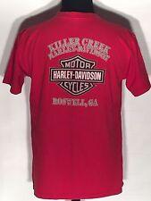 Harley-Davidson Motorcycles Killer Creek Roswell GA Large L Solid Red T-shirt