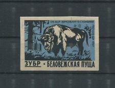 RUSSIA 1960 BISON WISENT MATCHBOX LABEL STREICHHOLZ-ETIKETT c1037