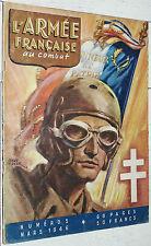 L'ARMEE FRANCAISE AU COMBAT N°5 MARS 1946 1ère ARMEE RHIN DANUBE ALLEMAGNE CALVO