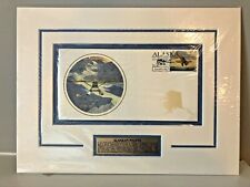 BYRON BIRDSALL 1998 Alaskan Pilots Peashooter Stamp Matted Sealed Plaque