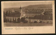 AK WESSOBRUNN KLOSTER BAYERN GELAUFEN 1914