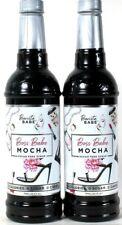 2 Bottles Barista Babe 25.4 Oz Boss Babe Mocha Sugar Free Syrup