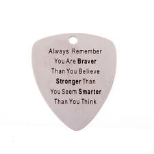 "Stainless Steel ""Alway Remember.."" Heart Standard Acoustic Electric Guitar Picks"