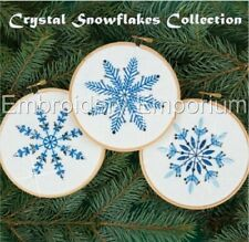 CRYSTAL SNOWFLAKES COLLECTION - MACHINE EMBROIDERY DESIGNS ON CD OR USB