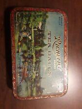 Vintage Richelieu Tea Balls Oriental scene tin 4x6