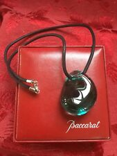 MIB FLAWLESS Exquisite BACCARAT Crystal GALET WAVE Turquoise PENDANT NECKLACE