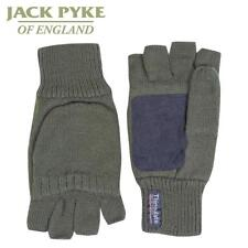 Jack Pyke Suede Palm Shooting Mitts Green Shooters Gloves Thinsulate Lining