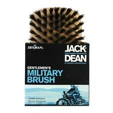 Jack Dean Military Brush Natural Black Bristles Made from Light Wood