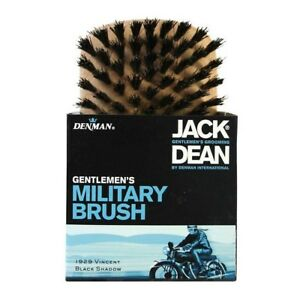 Jack Dean Military Brush Natural Black Bristles Made from Light Wood